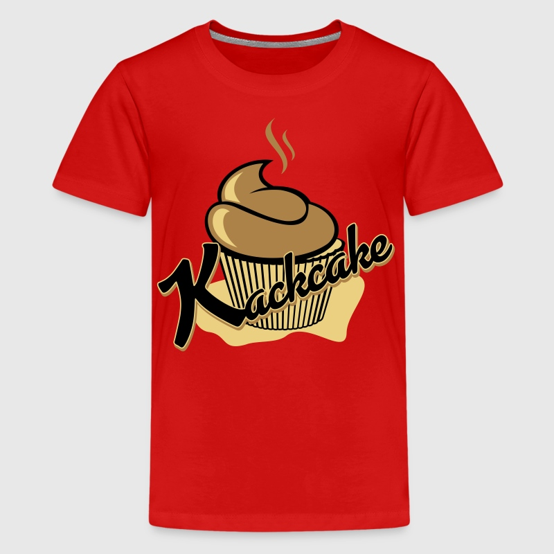 Der Kackcake T-Shirts - Teenager Premium T-Shirt