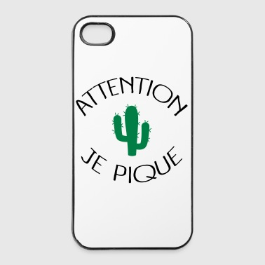 Attention Je Pique Coques pour portable et tablette - Coque rigide iPhone 4/4s
