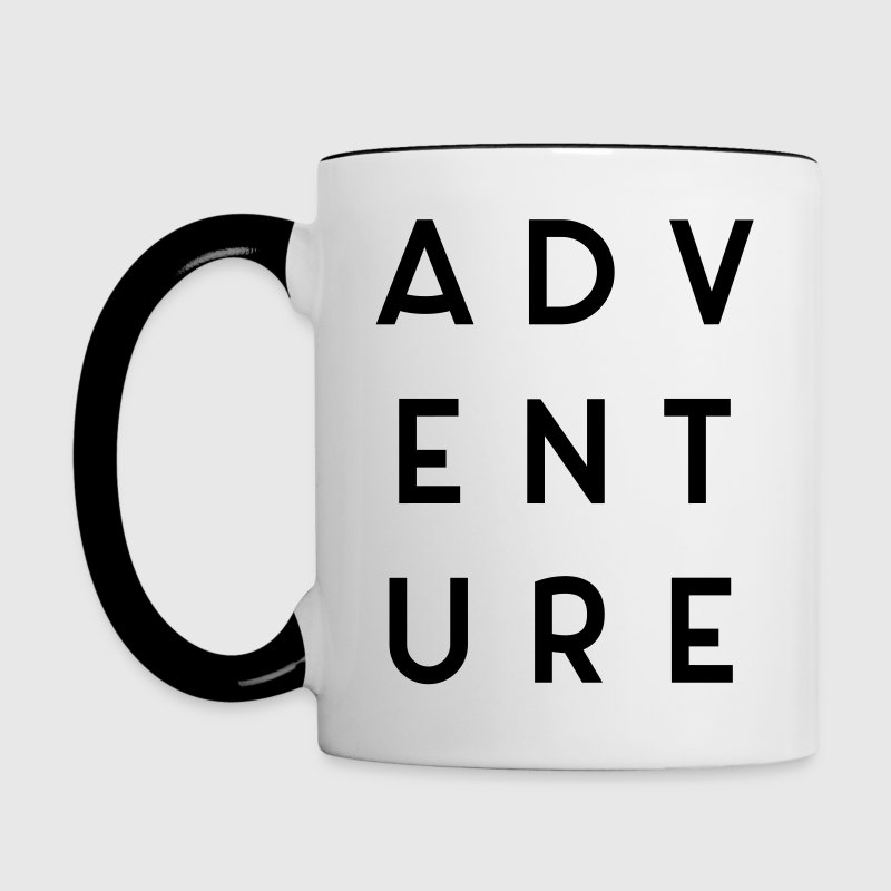 Adventure Travel Quote  Mugs & Drinkware - Contrasting Mug
