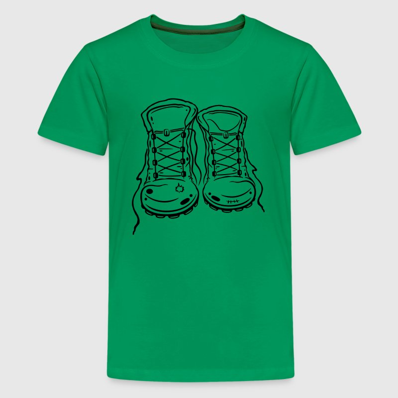 For lovers of hiking: hiking boots. - Teenage Premium T-Shirt