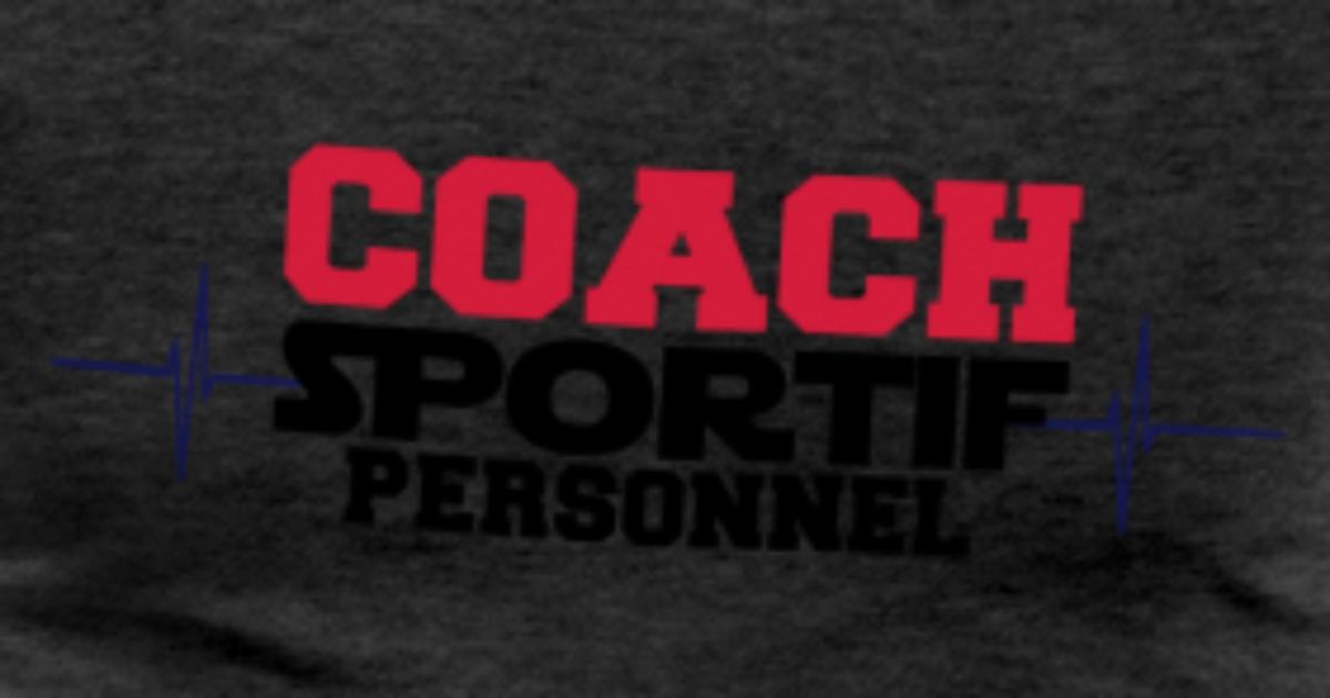 tee shirt coach sportif personnel spreadshirt. Black Bedroom Furniture Sets. Home Design Ideas