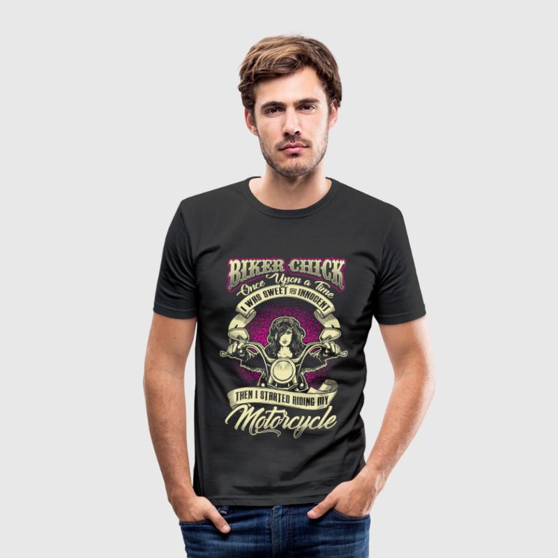 Biker Chick - Once Upon A Time - EN T-shirts - Herre Slim Fit T-Shirt