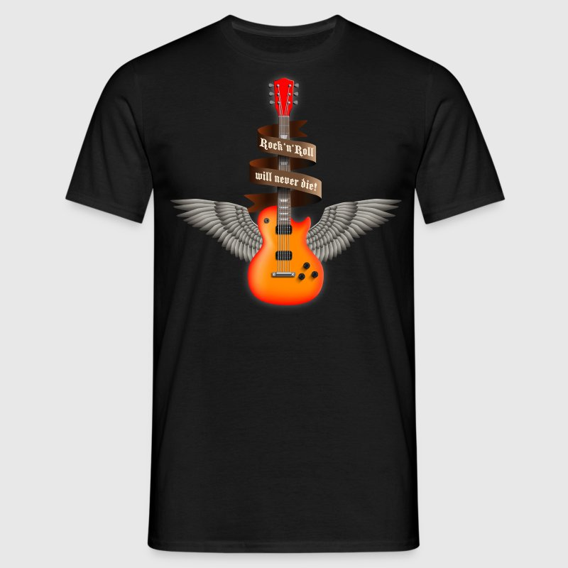 rock_guitar_a_red T-Shirts - Men's T-Shirt