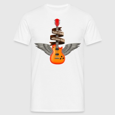 rock_guitar_a_red Delantales - Camiseta hombre