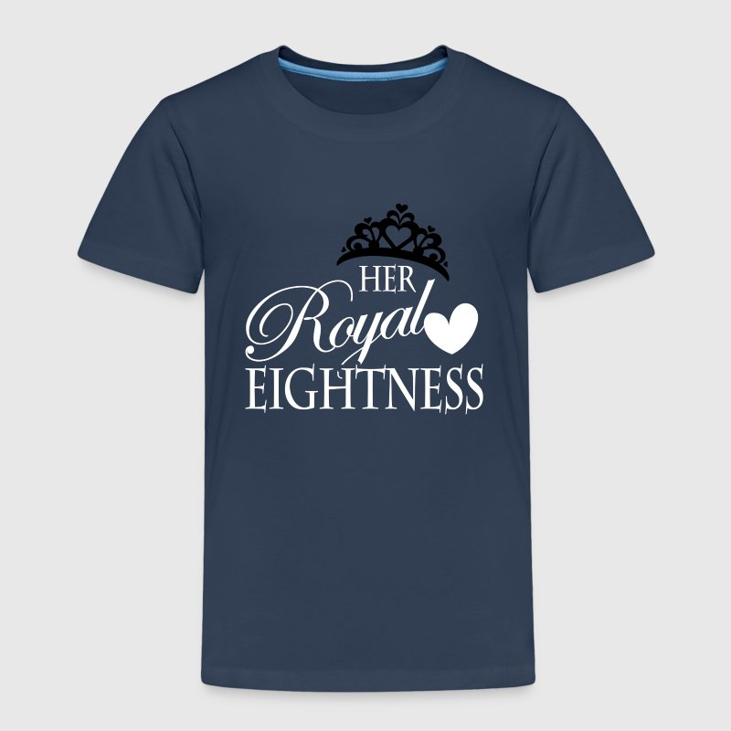 Her Royal Eightness birthday child kid T-Shirts - Kinder Premium T-Shirt