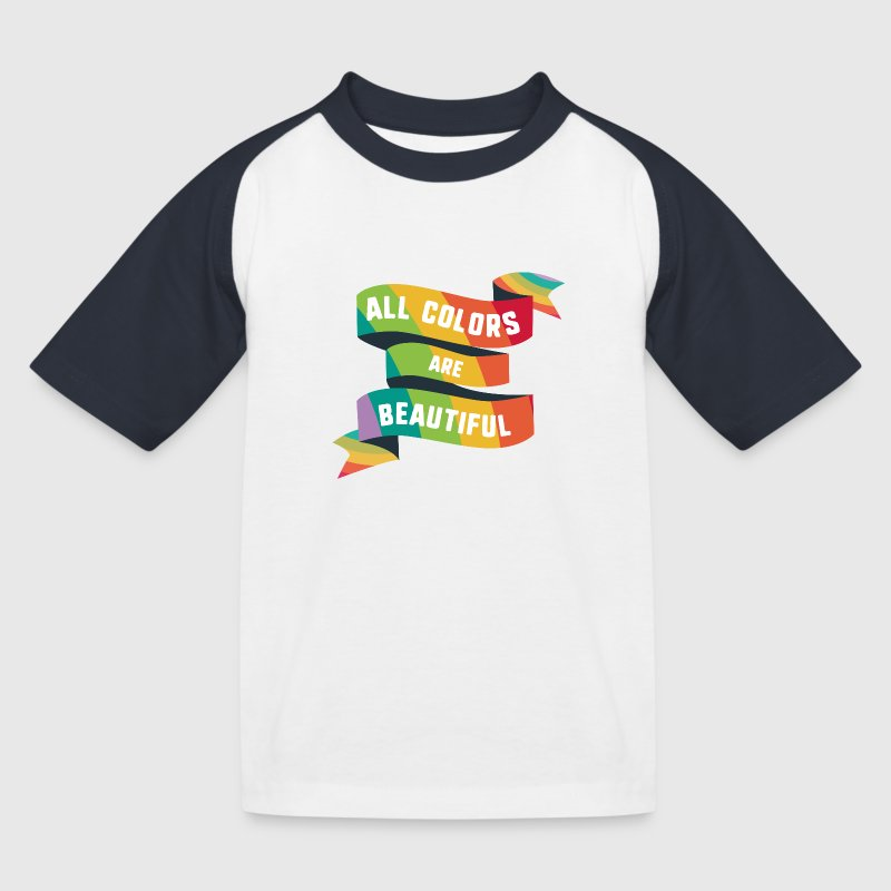 Pride All colors are beautiful Sfzrk Shirts - Kids' Baseball T-Shirt