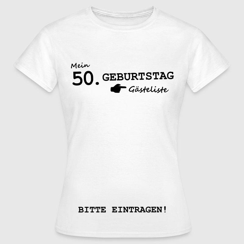 50 geburtstag g steliste unterschreiben schild t shirt. Black Bedroom Furniture Sets. Home Design Ideas