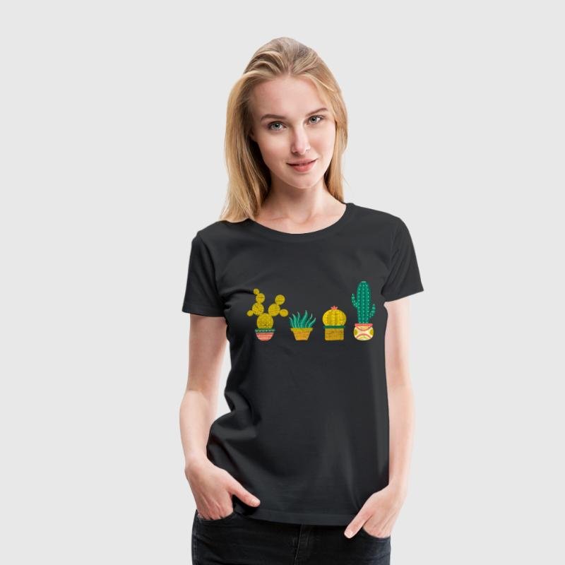 Cool Cactus Illustration Design Tee shirts - T-shirt Premium Femme