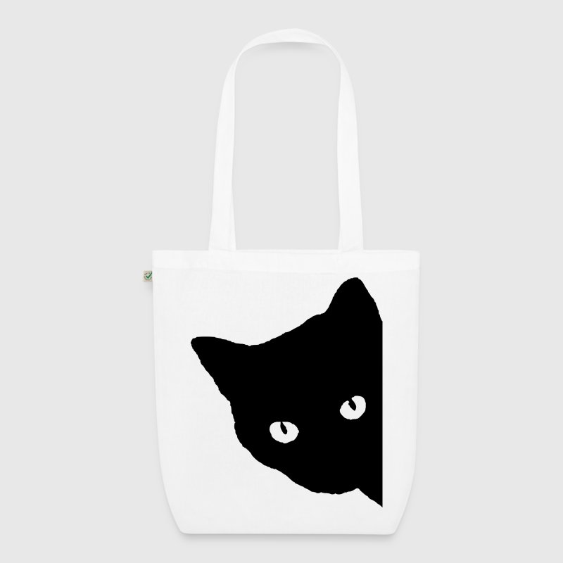 Cat silhouette Bags & Backpacks - EarthPositive Tote Bag
