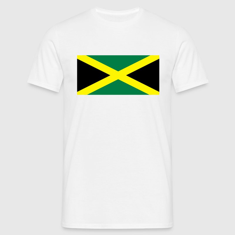 White Jamaican Flag Men's T-Shirts - Men's T-Shirt