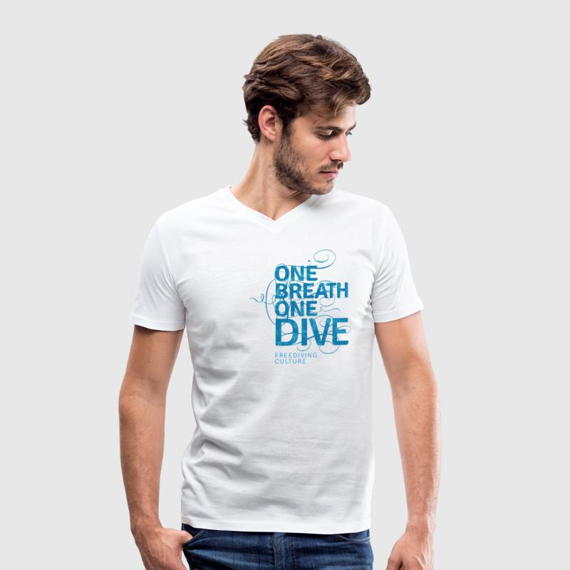 One Breath One Dive - Freediving Culture T-Shirts - Men's Organic V-Neck T-Shirt by Stanley & Stella