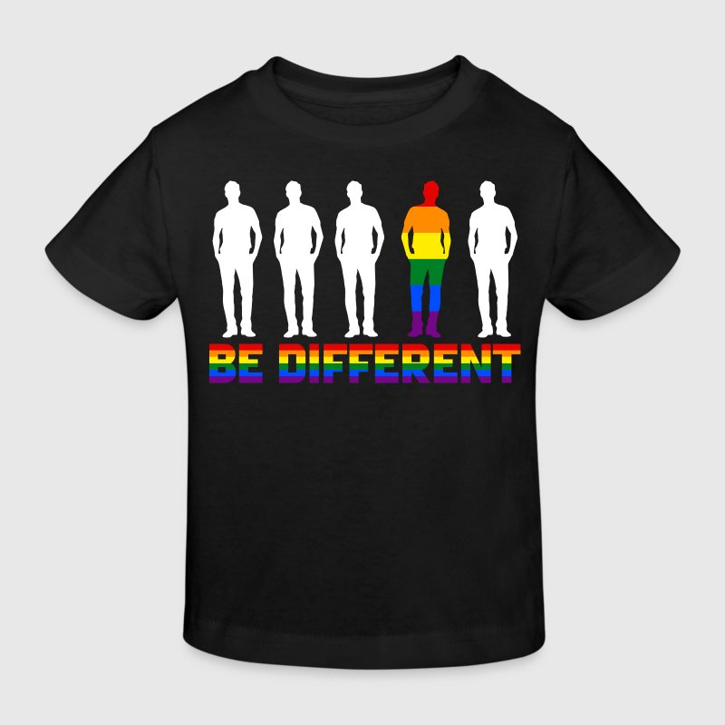 Gay - Rainbow - Be Different - EN T-shirts - Ekologisk T-shirt barn