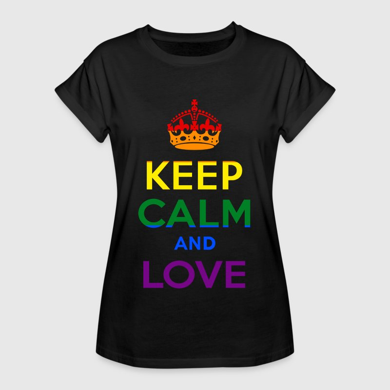 Keep Calm and Love - Rainbow - EN T-shirts - Vrouwen oversize T-shirt