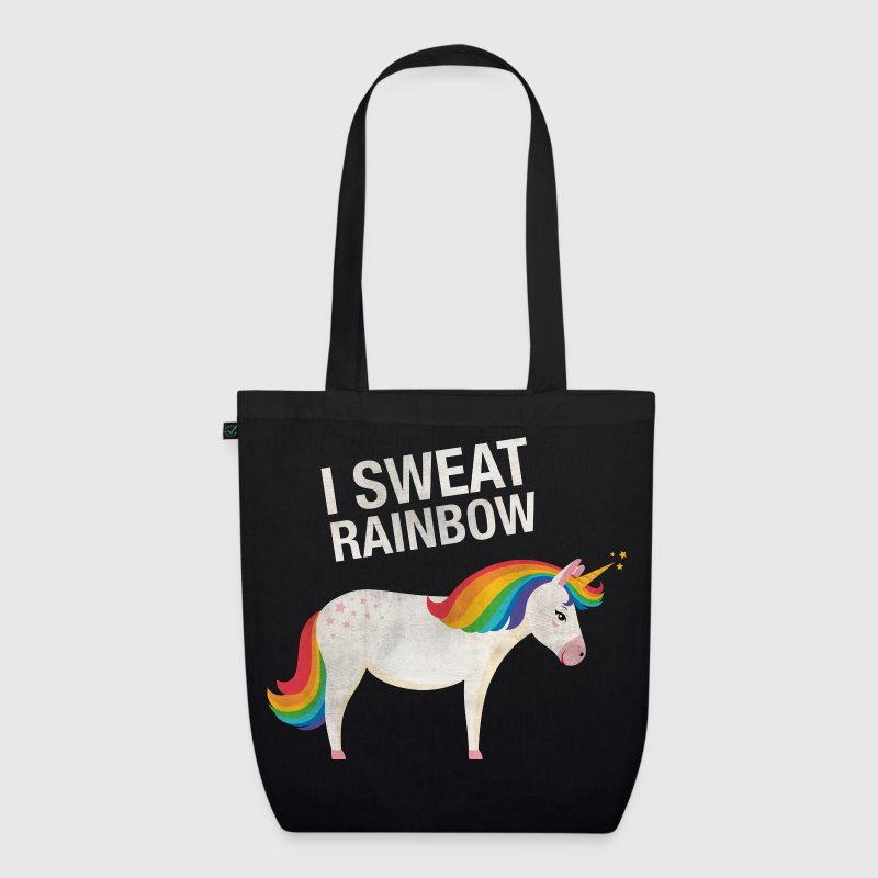 I Sweat Rainbow | Cool Unicorn Retro Vintage Style Bags & Backpacks - EarthPositive Tote Bag