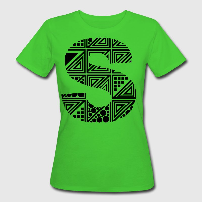 Light green letter S Organic Products - Women's Organic T-shirt
