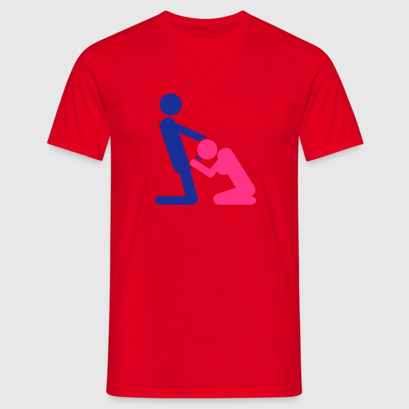 Red blowjob Men's T-Shirts - Men's T-Shirt