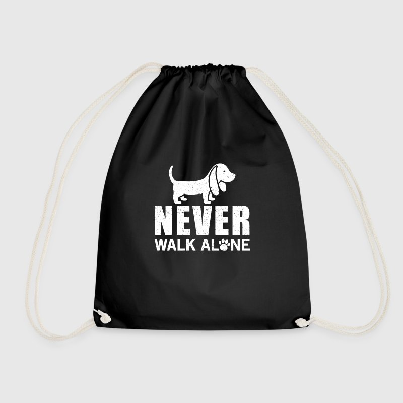 Never walk alone Bags & Backpacks - Drawstring Bag