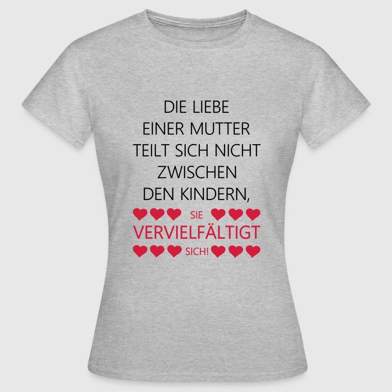 mutter liebe spruch mama geburt herzen spr che t shirt. Black Bedroom Furniture Sets. Home Design Ideas