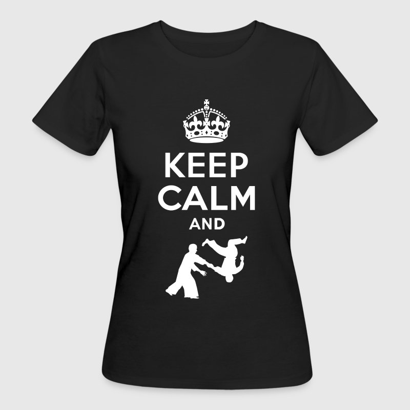 Keep Calm and aikido - EN Tee shirts - T-shirt bio Femme