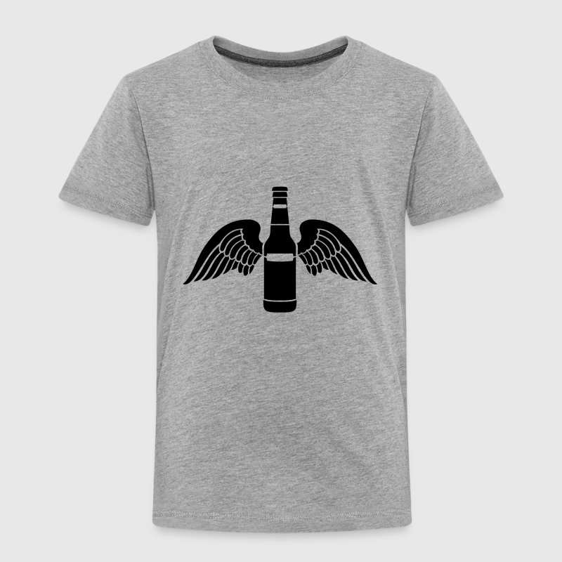 beer bottle wings 1c Shirts - Kids' Premium T-Shirt