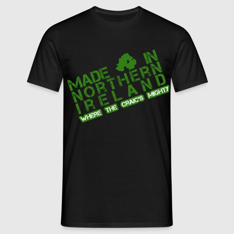 Black Made in Northern Ireland Men's T-Shirts - Men's T-Shirt
