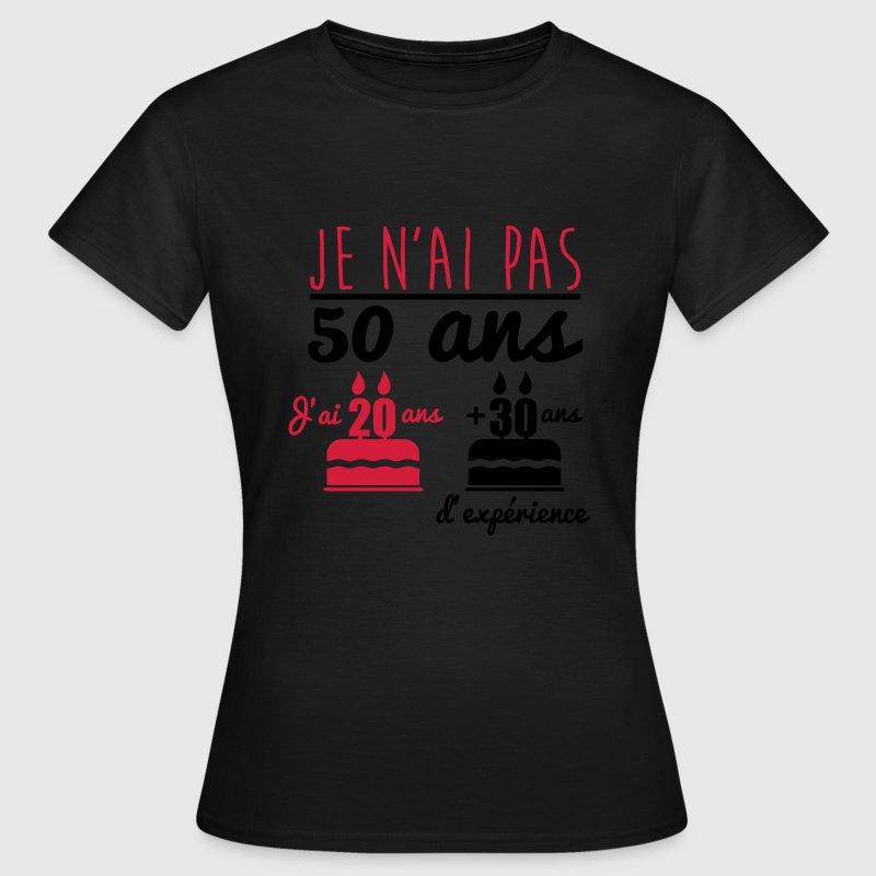 tee shirt pas 50 ans anniversaire cadeau d 39 anniversaire spreadshirt. Black Bedroom Furniture Sets. Home Design Ideas