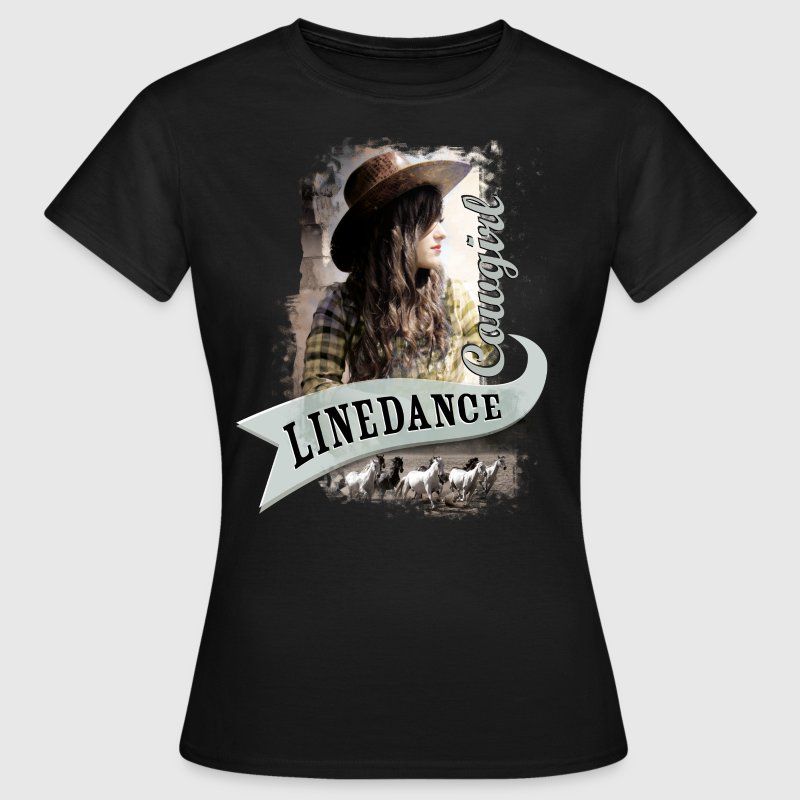 linedance girl 0496 t shirt spreadshirt. Black Bedroom Furniture Sets. Home Design Ideas