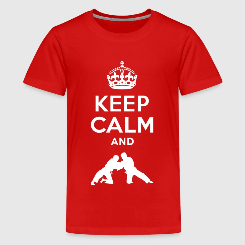 Keep Calm - Judo Shirts - Teenage Premium T-Shirt