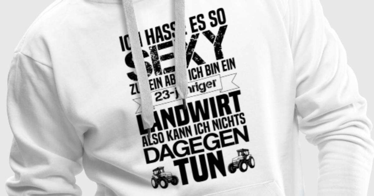 ich hasse es sexy 23 j hriger landwirt geschenk hoodie. Black Bedroom Furniture Sets. Home Design Ideas