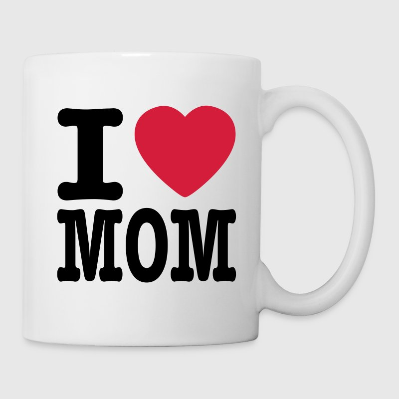 Vit i love mom SE Muggar - Mugg