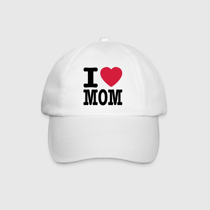 White/white i love mom EN Caps & Hats - Baseball Cap