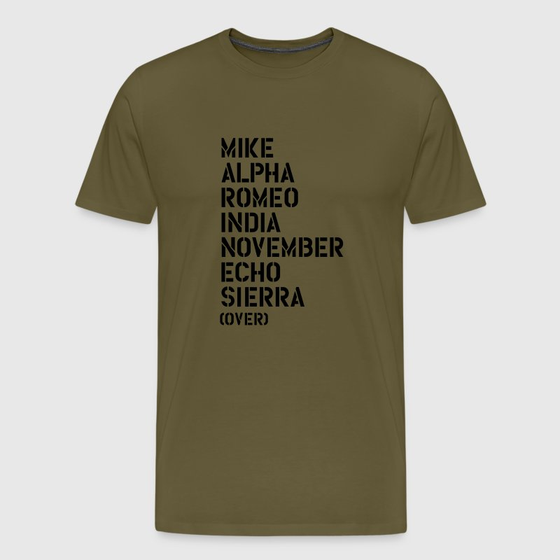 Mike Alpha Romeo India... over - MARINES T-Shirts - Men's Premium T-Shirt
