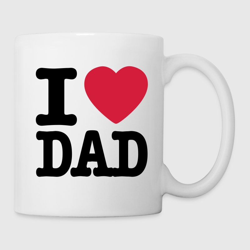White i love dad EN Mugs  - Mug