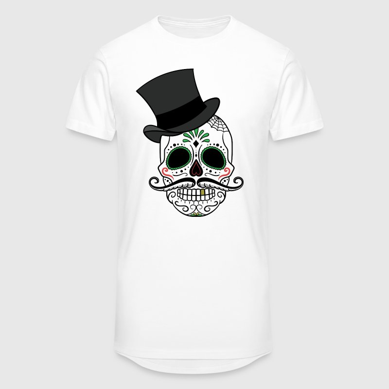Totenkopf Day of the Dead - Männer Urban Longshirt