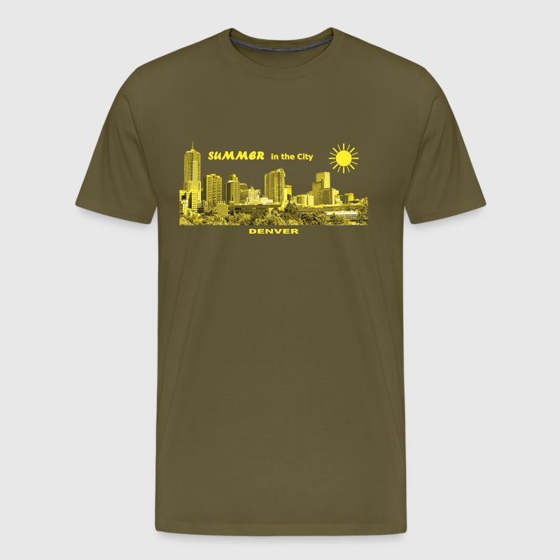 Summer in the City Denver Colorado USA T-Shirts - Männer Premium T-Shirt