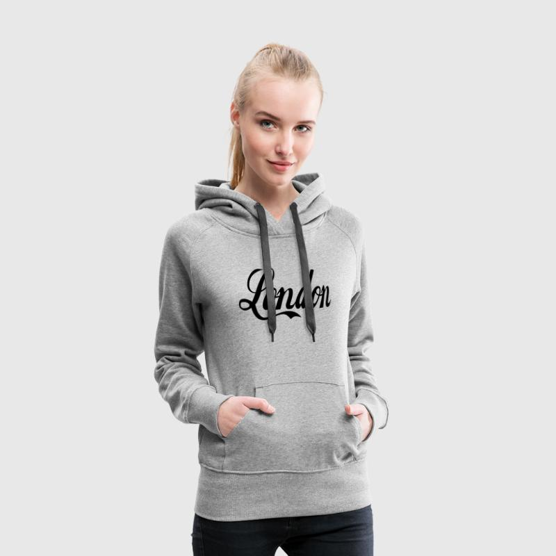 Gris chiné london Sweatshirts - Sweat-shirt à capuche Premium pour femmes