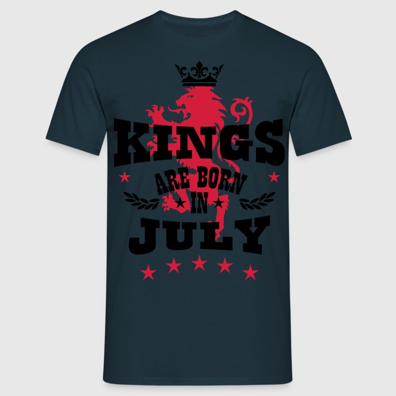 Kings Are Born In July King Crown Lion Hero T-Shirt