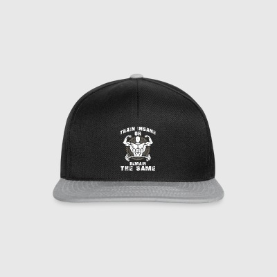 Train insane or remain the same Tasker & rygsække - Snapback Cap
