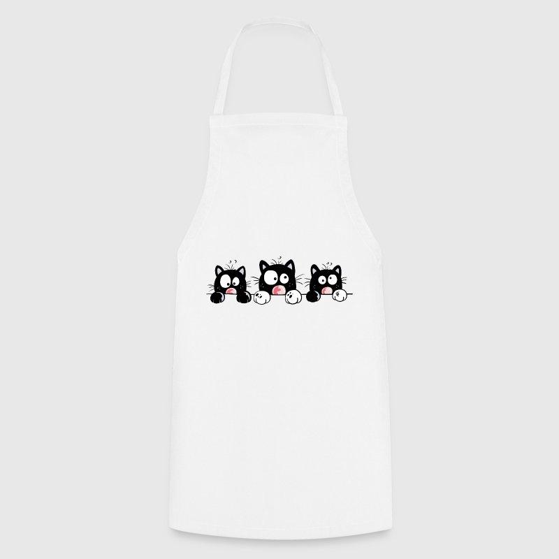 Tablier dr le chat dessin anim spreadshirt - Dessin anime de cuisine ...