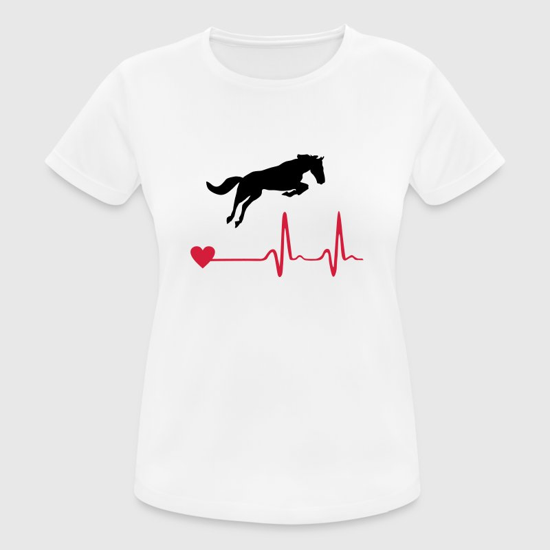 Caballo - Horse and heartbeat Camisetas - Camiseta mujer transpirable