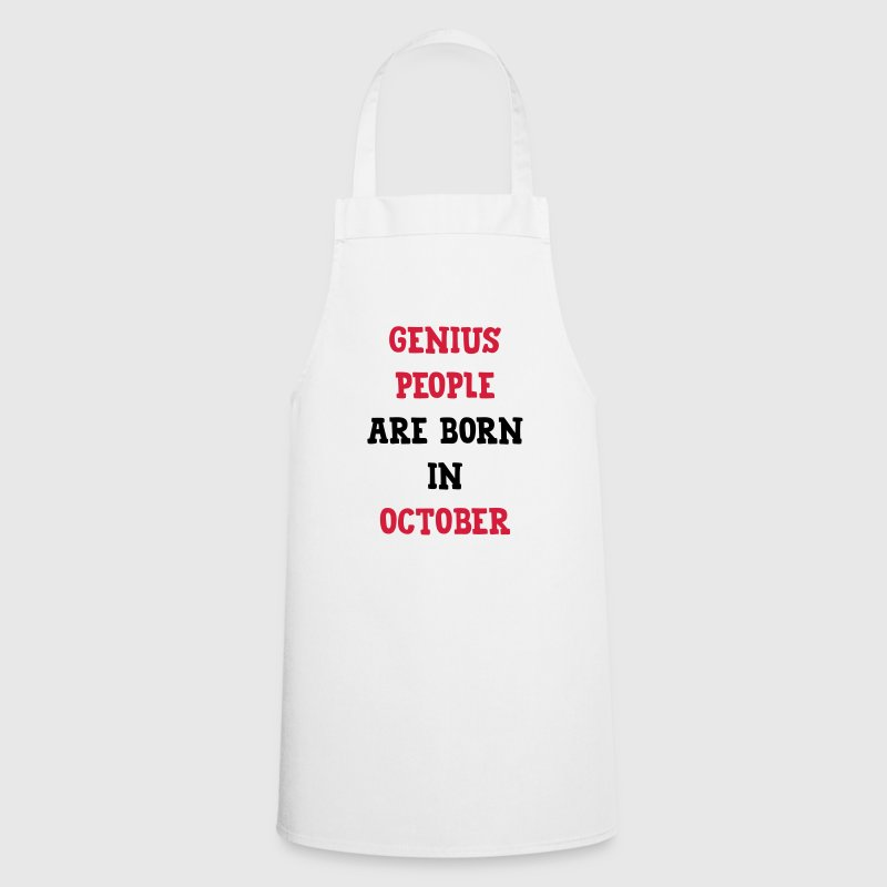 Genius People / October/ Birthday / Baby / Birth  Aprons - Cooking Apron