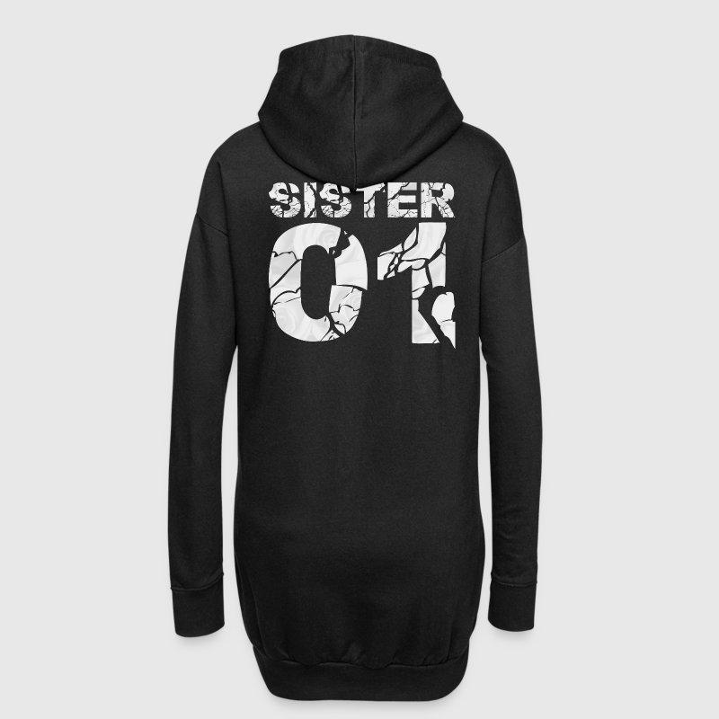 sister 01 partnershirts hoodie kleid spreadshirt. Black Bedroom Furniture Sets. Home Design Ideas