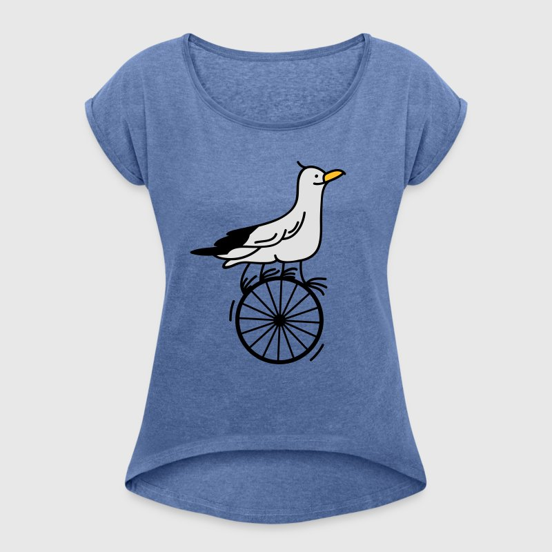 gifted gull T-Shirts - Women's T-shirt with rolled up sleeves