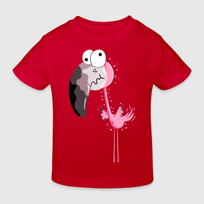 Lustiger Flamingo - Flamingos - Vogel - Comic T-Shirts - Kinder Bio-T-Shirt