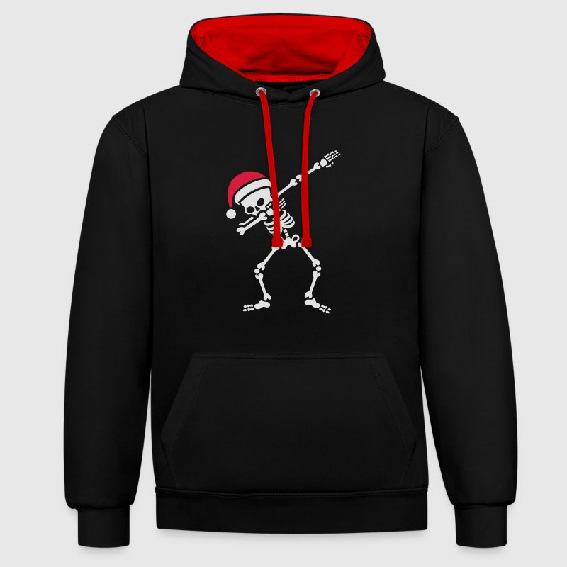 Santa dab / dabbing skeleton Sweat-shirts - Sweat-shirt contraste