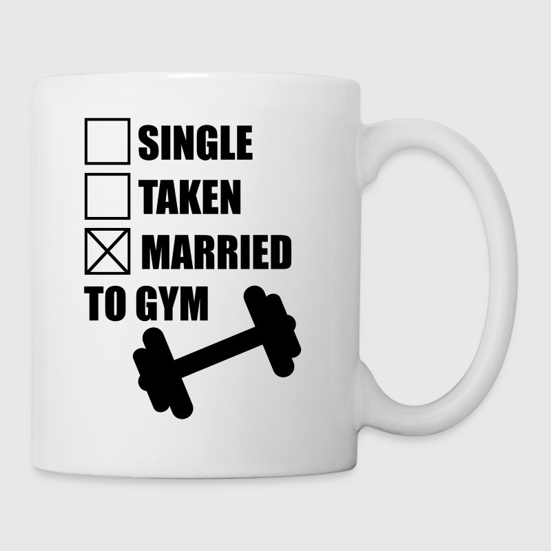 Married to gym :  funny Gym Body building Fitness  Mugs & Drinkware - Mug