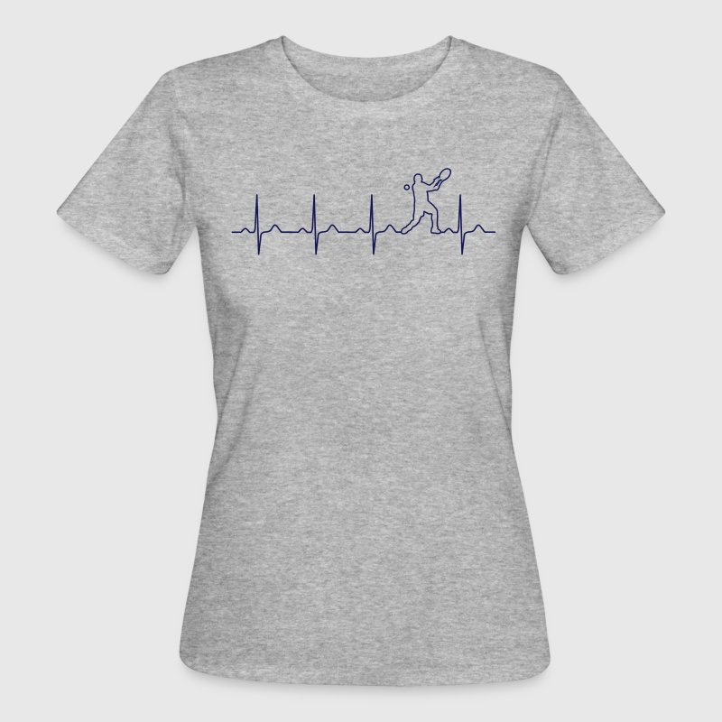Tennis heartbeat - my heart beats for tennis T-Shirts - Women's Organic T-shirt