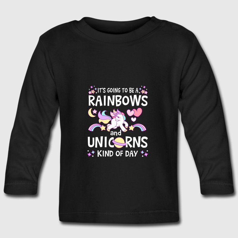 It's going to be Rainbows and Unicorns kind of day Maglietta a maniche lunghe - Maglietta a manica lunga per bambini