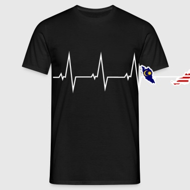 I love Malaysia Malaysia - heartbeat Bags & Backpacks - Men's T-Shirt