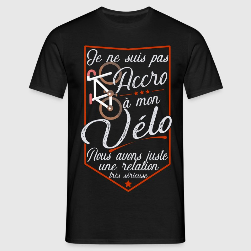 Pas accro vélo t-shirt humour cycliste Tee shirts - T-shirt Homme